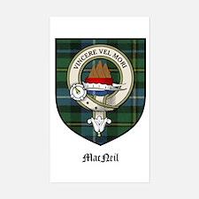 MacNeil Clan Crest Tartan Rectangle Decal