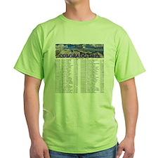 CO 14ers List T-Shirt NO BKGRND T-Shirt