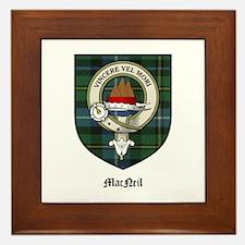 MacNeil Clan Crest Tartan Framed Tile