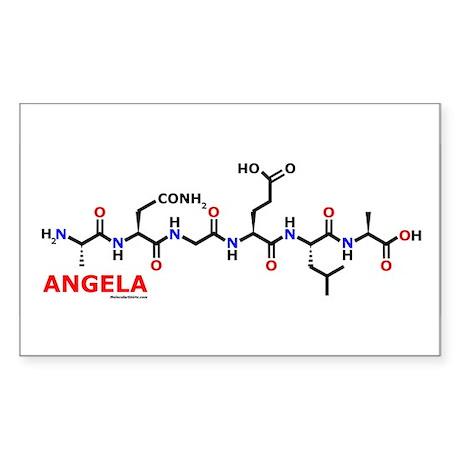 Angela molecularshirts.com Sticker (Rectangle)