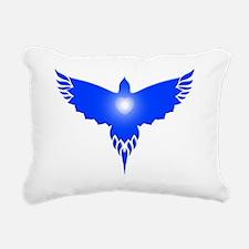 Blue Bird Heart Light Rectangular Canvas Pillow