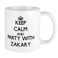 Keep Calm and Party with Zakary Mugs