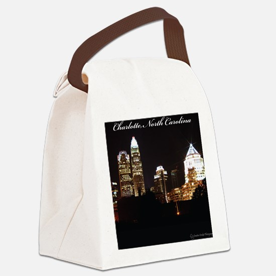 Charlotte Design Canvas Lunch Bag