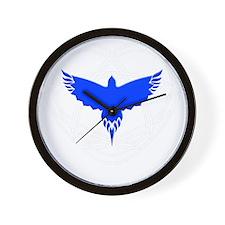 Blue Bird Heart Wall Clock