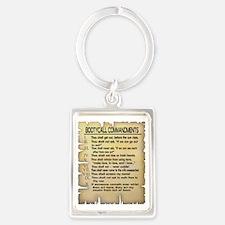 Booty Call Commandments4 copy Portrait Keychain