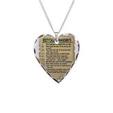 Booty Call Commandments4 copy Necklace Heart Charm