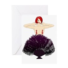 burlesque fan Greeting Card