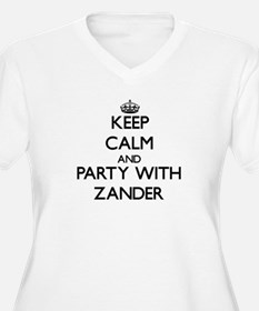 Keep Calm and Party with Zander Plus Size T-Shirt