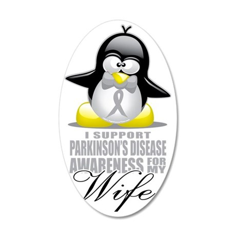 Paekinsons-Penguin-for-Wife 35x21 Oval Wall Decal