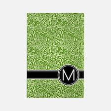 459_ipad_case_monogram_green_M Rectangle Magnet