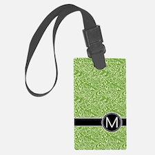 459_ipad_case_monogram_green_M Luggage Tag
