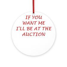auction Ornament (Round)