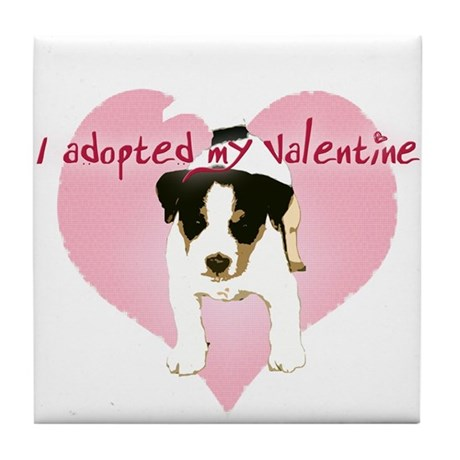 Valentine Pup Tile Coaster