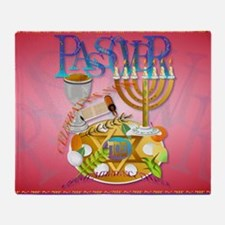 Pass Over Seder-Yardsign Throw Blanket
