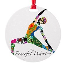 PeacefulWarriorT Round Ornament