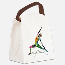 PeacefulWarriorT Canvas Lunch Bag