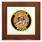 Seminole Police Framed Tile