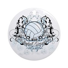 Volleyball Grandma Round Ornament