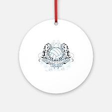Volleyball Grandma Round Ornament