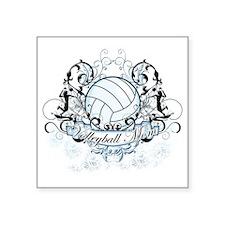 "Volleyball Mom Square Sticker 3"" x 3"""