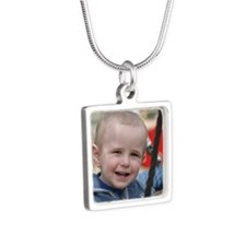 Cameron keychain Silver Square Necklace