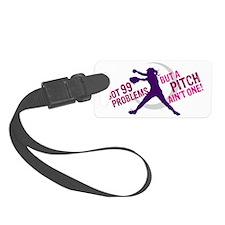 99 pitch purple Luggage Tag