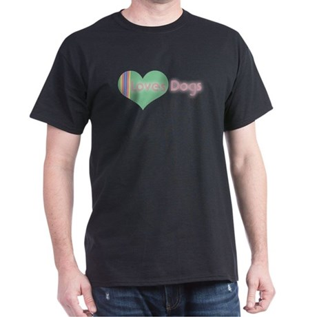 Loves Dogs Dark T-Shirt