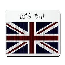 100 percent brit large flag Mousepad