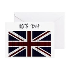 100 percent brit large flag Greeting Card