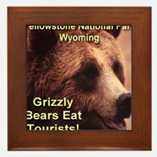 grizzly_bears_eat_tourists Framed Tile