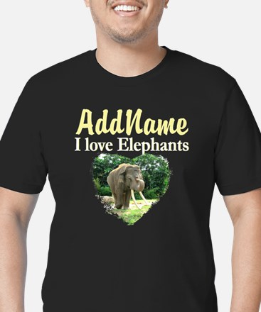 CUTE ELEPHANT Men's Fitted T-Shirt (dark)