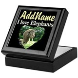 Elephant Square Keepsake Boxes