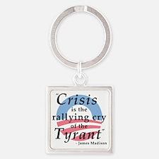 Madison_Crisis_Tyrant_NoBg Square Keychain
