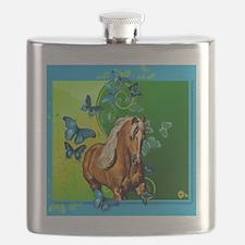 PalominoButterflies1 Flask