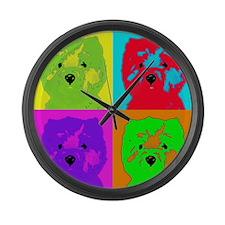 mikayla_popart3 Large Wall Clock