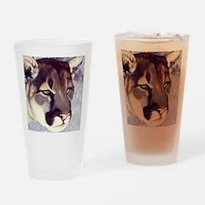 'Miss Mtn. Lion'SQRE.jpg Drinking Glass