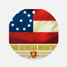 2nd Georgia Infantry (Flag 10) Round Ornament