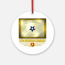 5th Georgia Cavalry (Flag 10) Round Ornament