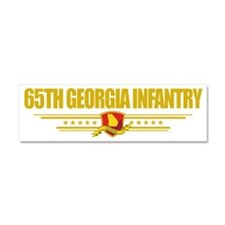 65th Georgia Infantry (Flag 10)  Car Magnet 10 x 3
