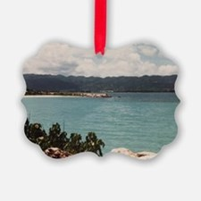 FREE_BEACH_MONTEGO BAY_JAMAICA_AD Picture Ornament