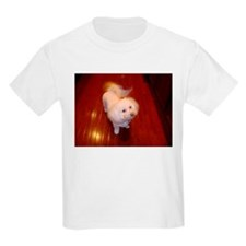 2 sided Pitter Patter of Bichon Feet Kids T-Shirt