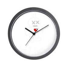 bad juju black shirt Wall Clock