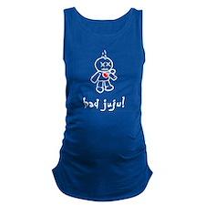 bad juju black shirt Maternity Tank Top
