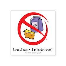 """lactose-intolerant Square Sticker 3"""" x 3"""""""