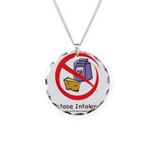 lactose-intolerant Necklace Circle Charm