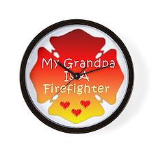 Firefighter Grandfather Wall Clock
