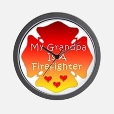 Firefighter Grandfather Wall Clock