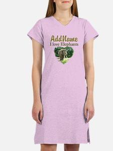 LOVE ELEPHANTS Women's Nightshirt