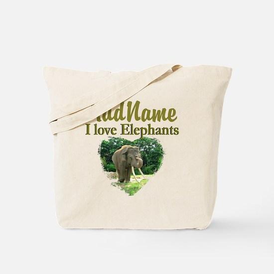LOVE ELEPHANTS Tote Bag