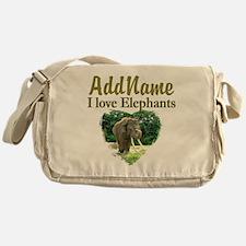 LOVE ELEPHANTS Messenger Bag